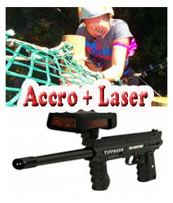 Accrobranche + Laser game - jeunesse