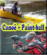 Canoë 6 kms + Paint-ball
