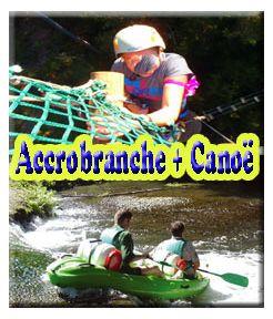 Accrobranche + canoë 06 kms