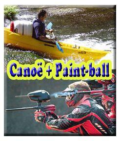 Canoë 6 kms + Paint-ball 300